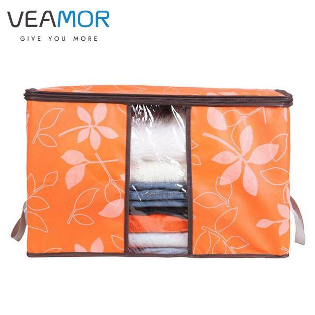 Veamor с цветочным принтом нетканые одеяла ящики для хранения для дома организации плюс размер Отделка Ящики для хранения с windows сумки