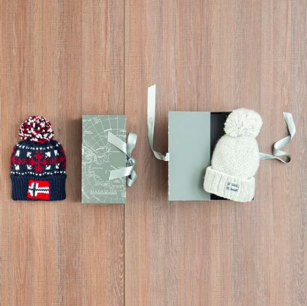 Next up on our list of festive surprises: Online Exclusive Gift Box.  This classic beanie complete with special packaging is the ultimate winter warming gift.