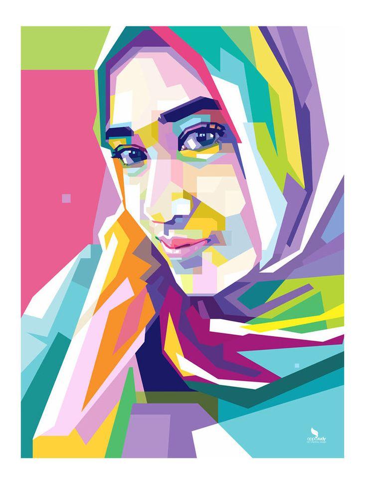 Hijab WPAP - By opparudy