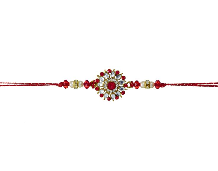 Impress your brother with this amazing Diamond Rakhi