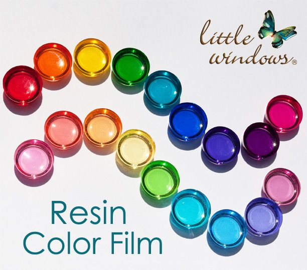Resin Color Film - NEW! | Little Windows Brilliant Resin for Jewelry & More
