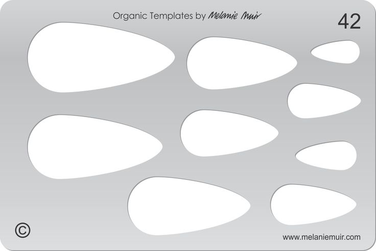 Acrylic template No. 42. Perfect for creating a wide variety of polymer, metal or clay bracelet, necklace, pendant and earring designs.