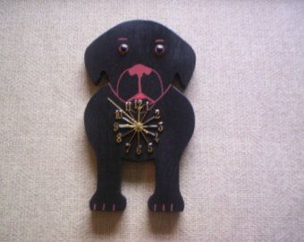 Hand crafted, hand painted and stained Dachshund paper towel holder, new. Mounts on wall with two drywall screws included. It is sealed with shellac. Perfect for all Doxie lovers. Size is 19 by 6 by 7. Please allow 1 to 3 weeks for delivery PLEASE NOTE: look at both pictures , this will hold a standard roll only, 5 in Dia. by 11 long roll. For international shipments I need your address for s/h price. New York State residence adds 7.5% sales tax. Thank you  Waltsworkshops Shop Announceme...