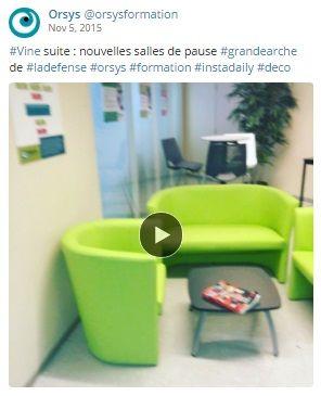 Qualité de vie au travail #QVT Espaces de travail, locaux - La Défense - La Grande Arche Découvrez nos offres d'emploi : http://www.orsys.fr/?mode=recrutement