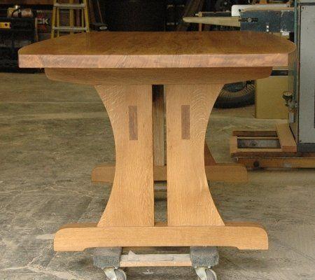 custom made oregon white oak conference table