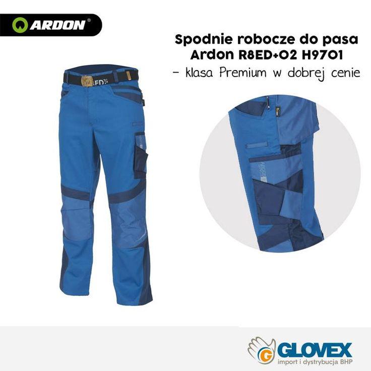 Spodnie robocze ARDON dedykowane są do pracy na budowie, w przemyśle lub usługach. Wykonane zostały z tkaniny bawełniano-poliestrowej o stosunku 35%:65%. Gramatura materiału wynosi 245 g/m². Dodatkowe wzmocnienia z materiału CORDURA® cechującego się wysoką odpornością na ścieranie i zniszczenie. Spodnie posiadają ergonomiczny krój, który wpływa na komfort noszenia, a także wydajność pracy.