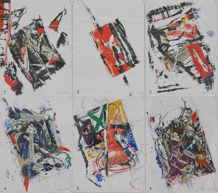 Gordon Benson RA's NOTATION / ROTATION SEXTET 1-6 at the RA Summer Exhibition 2015
