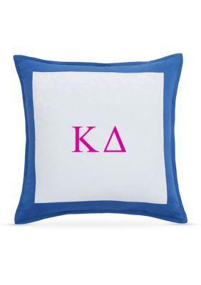 Southern Tide  Chino Kappa Delta Decorative Pillow - Blue Cove - 16 X 16