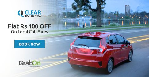 Now You Can Rent A Car at #ClearCarRental. Get Flat Rs 100 Off On Local Cabs. http://www.grabon.in/clearcarrental-coupons/ #SaveOnGrabOn