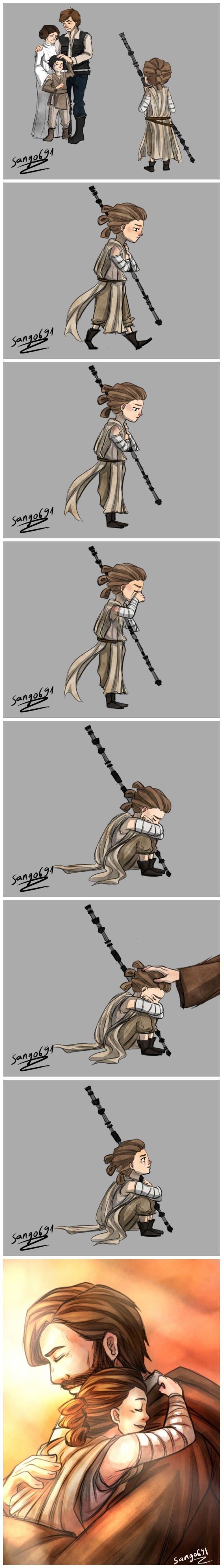 "a little comics ""kenobi's family "" I really hope Rey is Obi-wan's graddaugther because for me she looks like Obi wan ."