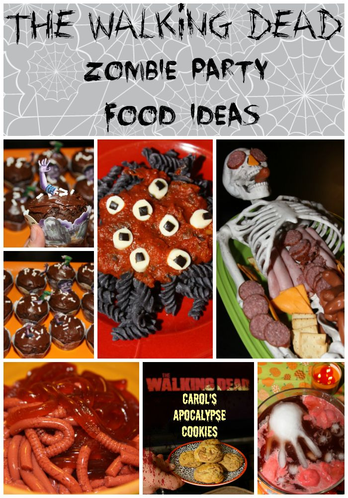 The Walking Dead Zombie Viewing Party Food Ideas - a tasty and creepy collection of my favorite zombie party foods. #TWD