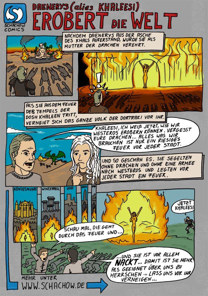 Game of Thrones Comic - Khaleesi erobert die Welt http://www.schachow.de/daenerys-alias-khaleesi-erobert-die-welt-comic/