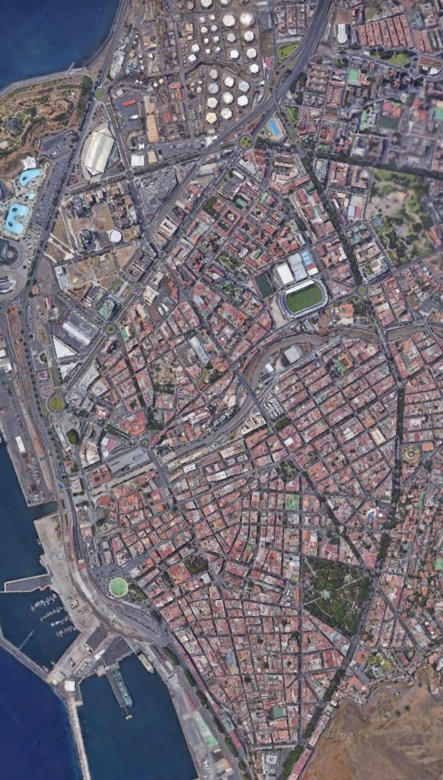 Satelital From The Air Santa Cruz De Tenerife Islas Canarias Spain Tenerife Aerial View City