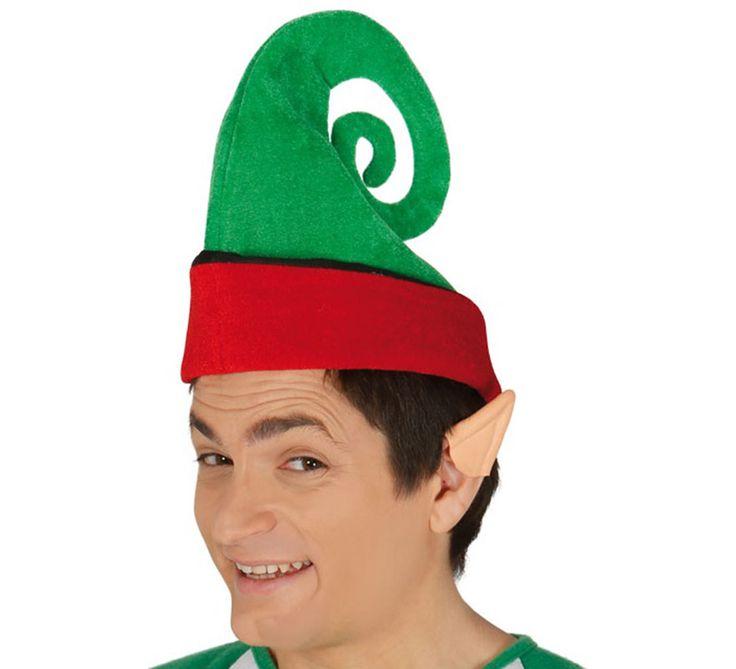 Gorro de Elfo verde y rojo