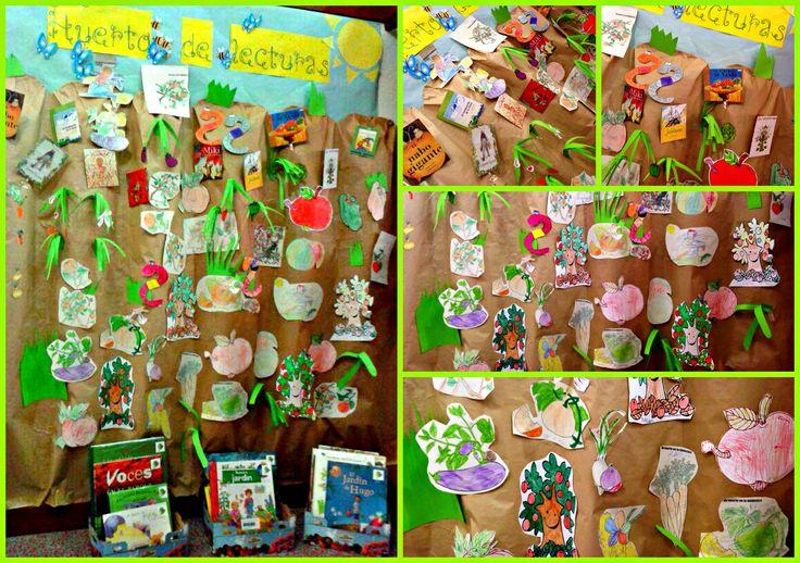 La Sala Infantil se transforma en un huerto de lecturas. Biblioteca y usuarios crecemos con la lectura. Verano de 2014, Biblioteca Manuel Alvar (Zaragoza).