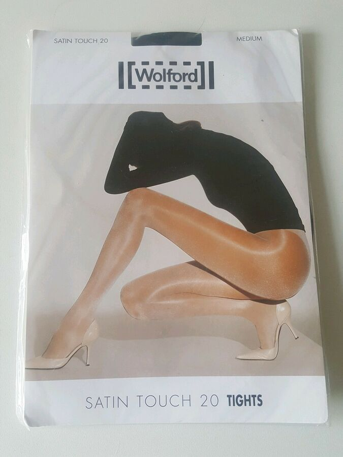 7bc3747683670 BRAND NEW WOLFORD SATIN TOUCH 20 DENIER TIGHTS IN BLACK SIZE MEDIUM HOSIERY  TOUCH#SATIN