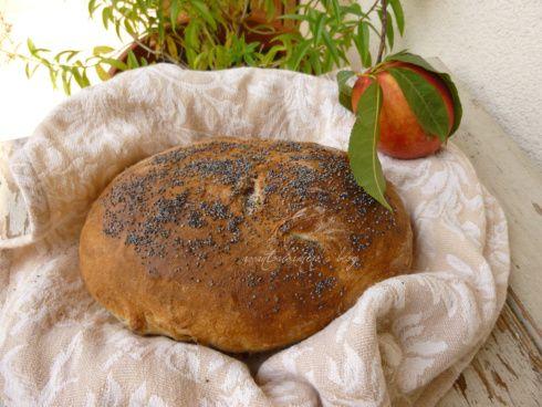 pane di Giulio con le pesche