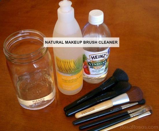 What you need:     dirty makeup brushes     natural dish soap     vinegar     water     hand towel, (or paper towel)