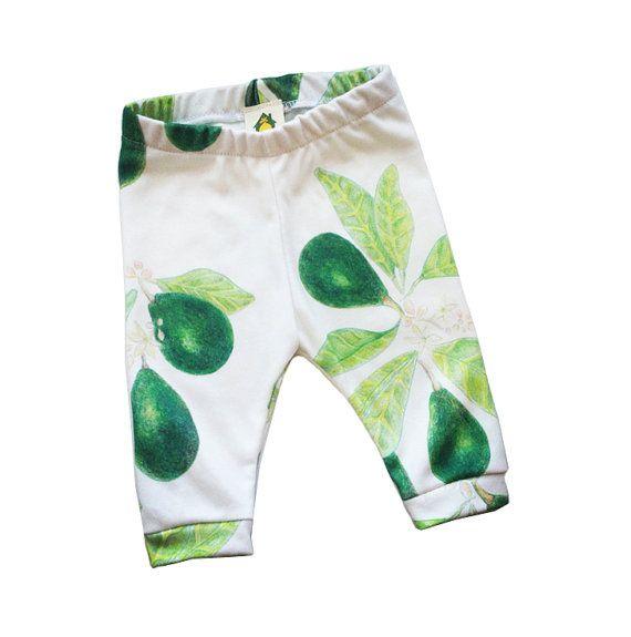 Avocado organic leggings stylish baby clothes by HouseintheOrchard