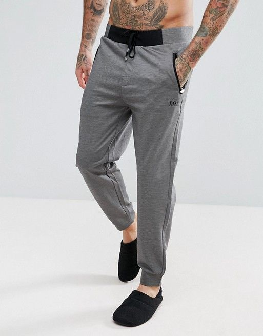 Boss Tracksuit Joggers With Cuffed Ankle In Regular Fit