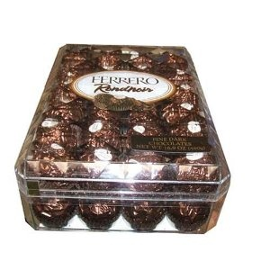Ferrero Rondnoir, 48 Individually Wrapped Fine Dark Chocolates Per Gift Box (Misc.) http://www.amazon.com/dp/B0017WD6YW/?tag=dismp4pla-20