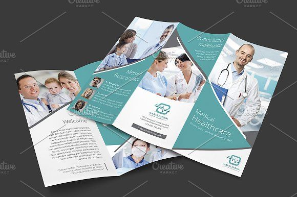 Medical Trifold Brochure by marem on Creative Market