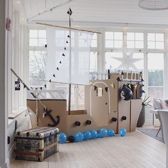 Cardboard pirate ship!