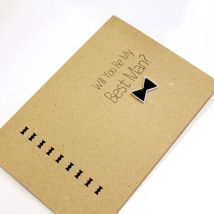 'Will You Be My Best Man' Bow Tie Wedding Day Card