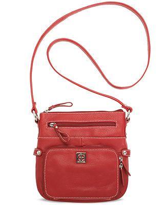 Giani Bernini Handbag, Pebble Leather Crossbody Bag, Small