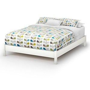 twin full queen white ecofriendly platform bed frame teen adults bedroom new