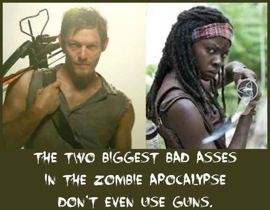 Daryl Dixon & Michonne #badasses