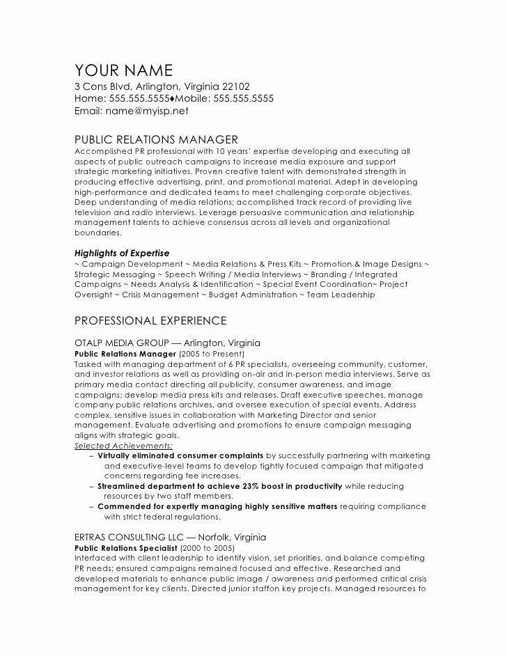 Public Relation Resume Examples New Public Relations Manager Cv Template Public Relations Resume Examples Sample Resume Templates