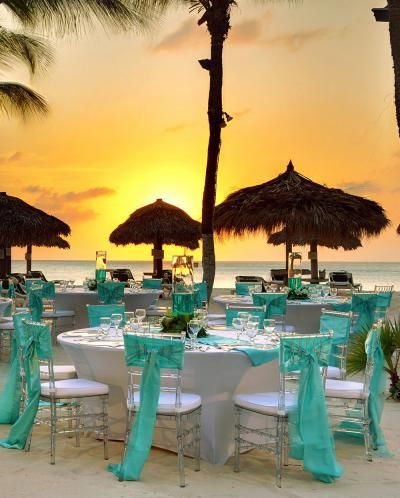 Occidental Grand Aruba Resort wedding ceremony tablescape