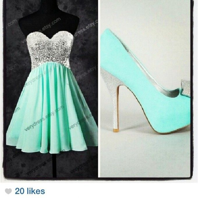 f32krl l c680x680 dress flowy short prom dress aqua blue green dress silver sequin dress flowy dress shoes teal silver high heels silver glitter teal heels heels with bows jpg  680  680