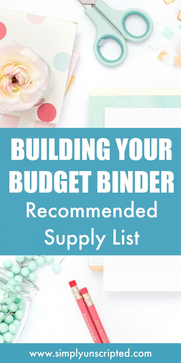 Setting up a budget binder is a great way to get your finances organized! Start paying off debt, save money, and get your budget on track with this supply list for your budget binder.