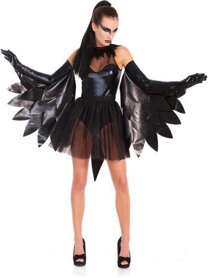 Women's Sexy Black Raven Swan Costume | Wholesale Animals Costumes for Adults