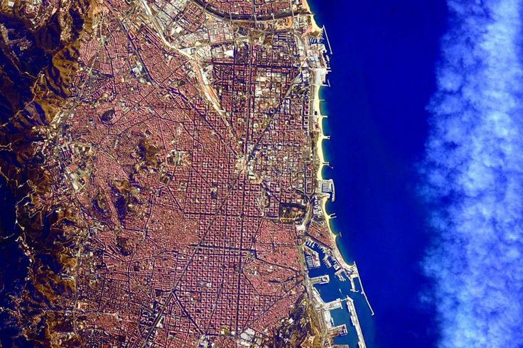 Barcelona fromSpace - photo by astronaut Scott Kelly on the International Space Station, via twistedsifter;  Picture of the Day,  7/29/15