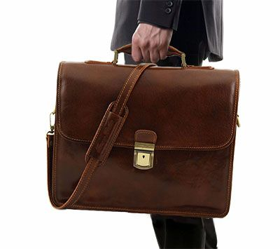 Style & class go hand in hand with this leather briefcase