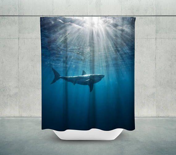 Shark Bath Shower Curtain   Nautical Shower  housewares  bathroom   EtsyMktgTool http. The 25  best Shark bathroom ideas on Pinterest   Shark room  Shark