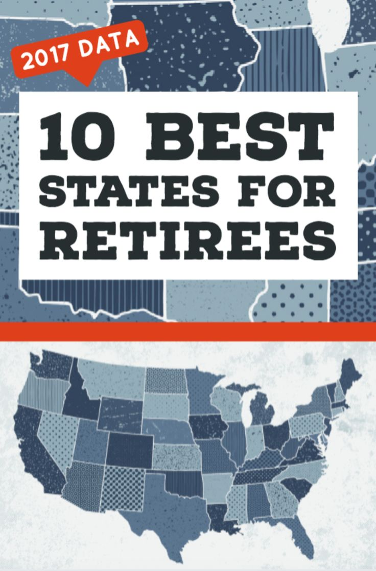 New study ranks the 10 best states for retirees.