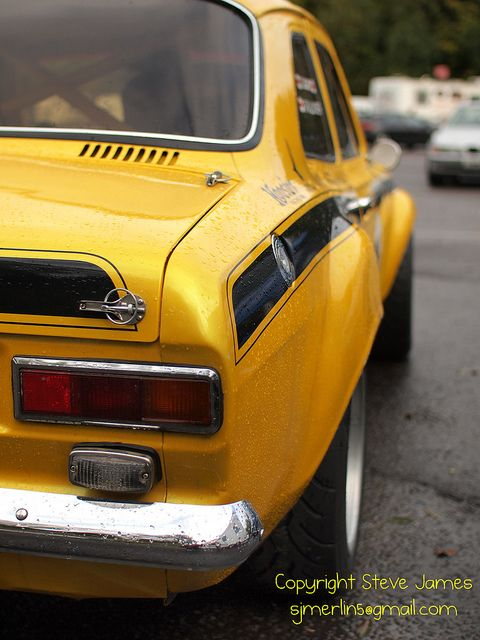 yellow mk1 Escort mexico at brands (see below) | Flickr - Photo ...