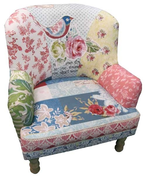 The image of a bird and oversized red roses is prominent on the back of the chair. Whether you use it in your living room or up in your bedroom, you're going to adore looking at and using this piece on a daily basis. Come have a look at our furniture range.