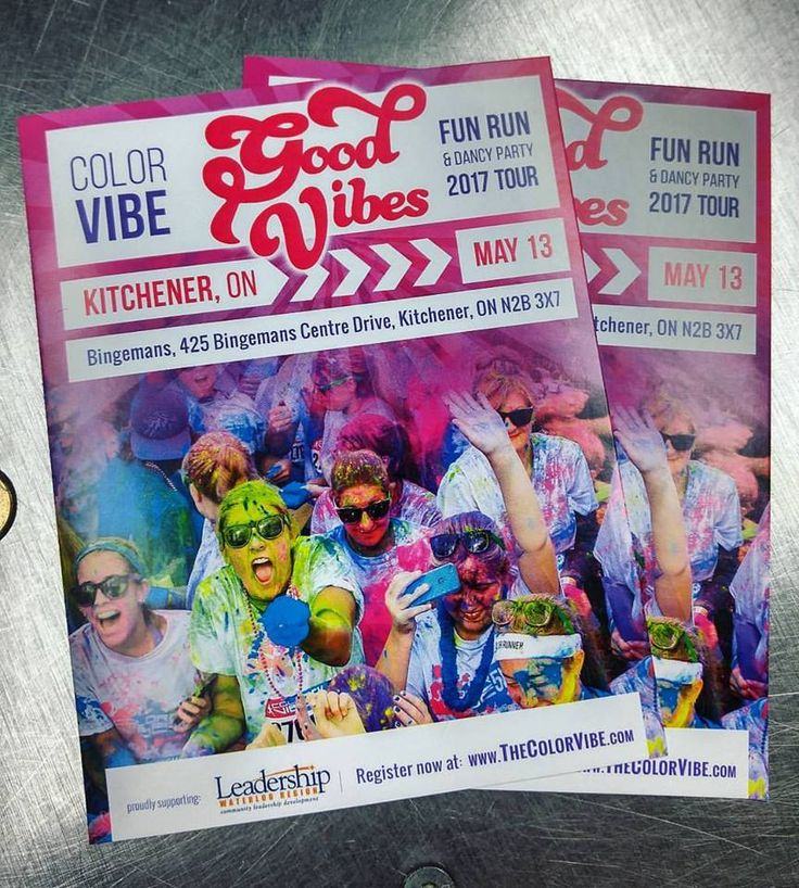 Color Vibe 5k printed flyers