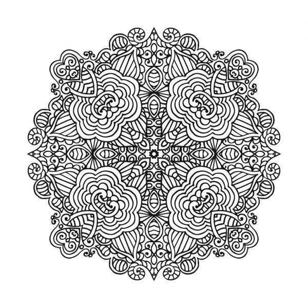 Malvorlagen Chamaleon Japanisch Mandala Floral Pattern Vector Images