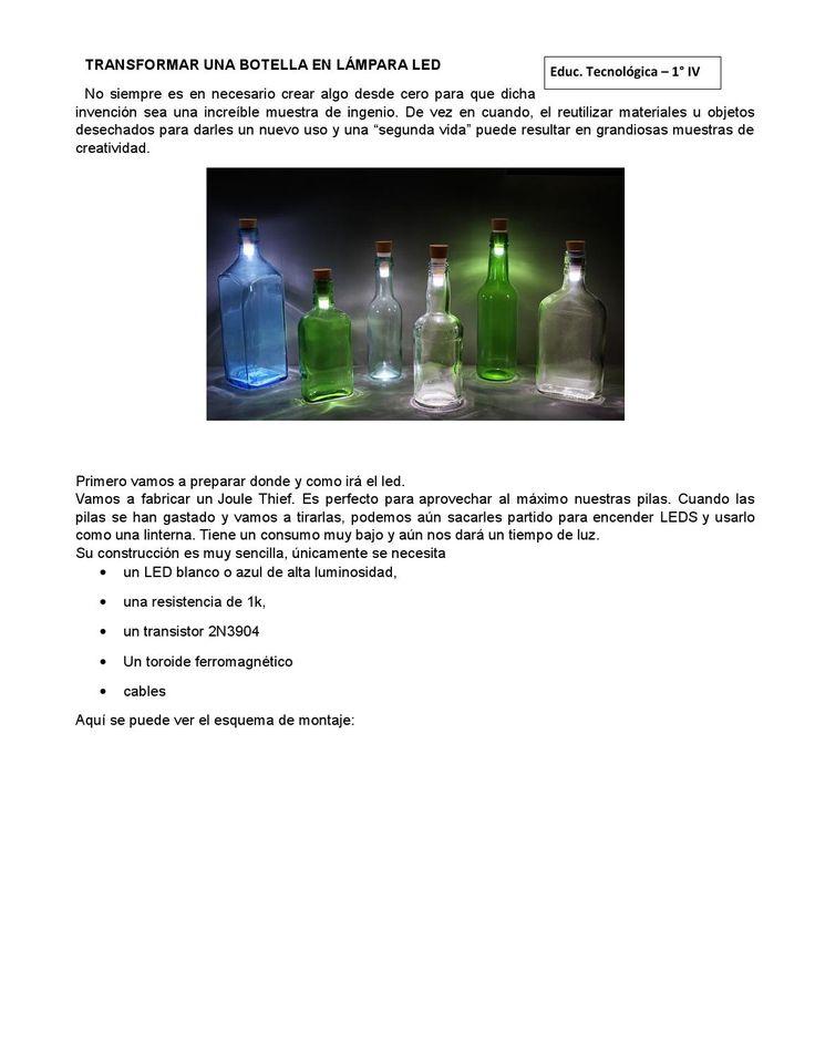 LED&BOTTLE  Transformar una botella en lámpara led