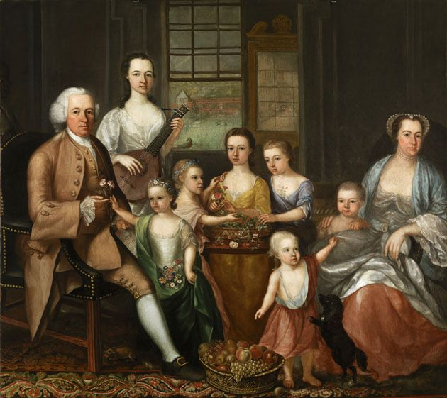 """""""John Glassford and His Family"""" by Archibald McLaughlin (1767) at the Glasgow Museums, Glasgow"""