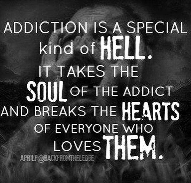 Battling Addictions Quotes   Addiction sucks. It doesn't care about you.. Your family .. Your ...