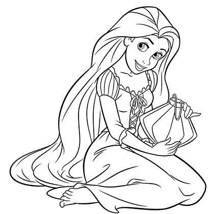 Coloriage Princesse Raiponce à colorier - Dessin à imprimer