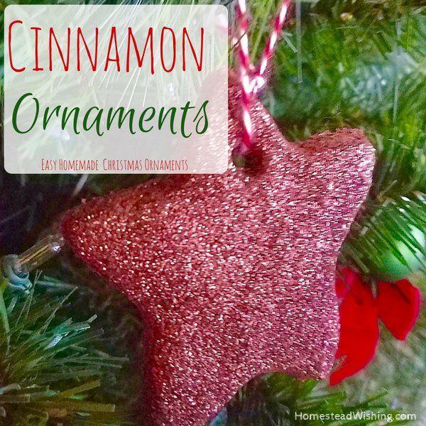 These are super easy to make. Cinnamon ornaments with glitter. Apple cinnamon ornaments, cinnamon apple ornaments, christmas ornaments. |http://homesteadwishing.com/cinnamon-ornaments/|  | Homestead Wishing, Author Kristi Wheeler |