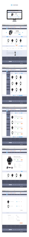 Watches Shop by Sergey Ivanov, via Behance
